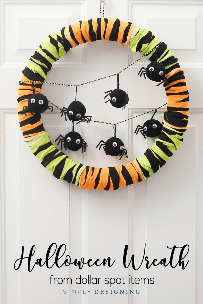 Easy to make Halloween Wreath