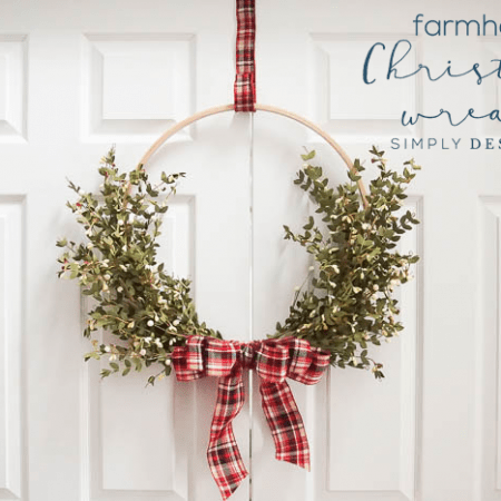 How to make a Farmhouse Christmas Wreath