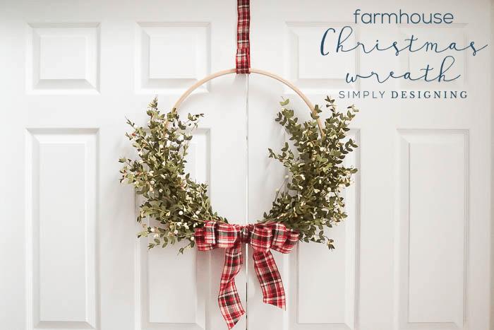 how to make a farmhouse christmas wreath - A Farmhouse Christmas