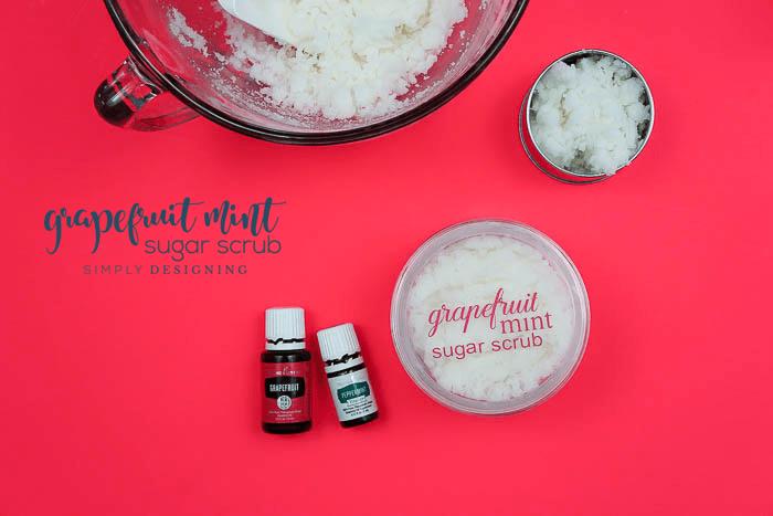 Grapefruit Mint Sugar Scrub Recipe