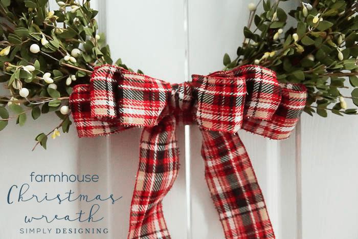 Hoop Christmas Wreath