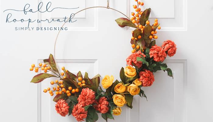 How to make a Fall Hoop Wreath