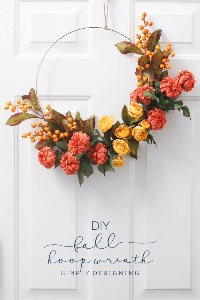 How to make a Fall Hoop Wreath - simple hoop wreath - fall wreath