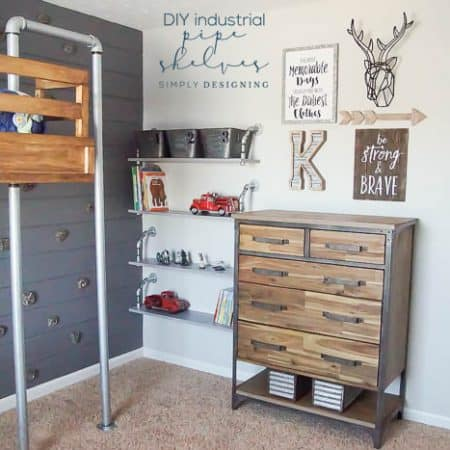 How to make Industrial Pipe Shelves
