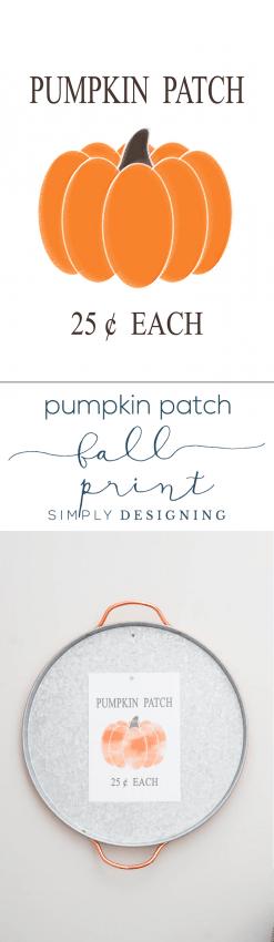 Pumpkin Patch Free Fall Print - Simply Designing