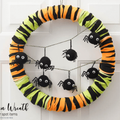 Halloween Wreath made with Dollar Spot Items