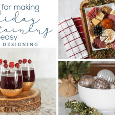 5 Tips to Make Holiday Entertaining Easy - Christmas Appetizers - Christmas Drinks - Christmas Dishes - Holiday Party - Christmas Party