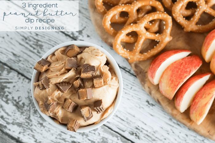 Easy 3 Ingredient Peanut Butter Dip Recipe