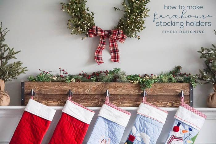 Farmhouse DIY Stocking Hangers