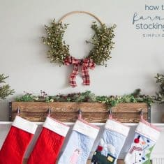 Farmhouse DIY Stocking Holders