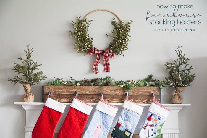 Christmas Stocking Holder.How To Make Farmhouse Stocking Holders For Your Mantle