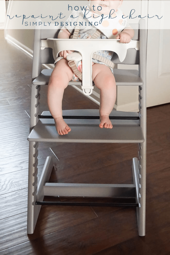 How to Repaint a High Chair Easy and without brush marks