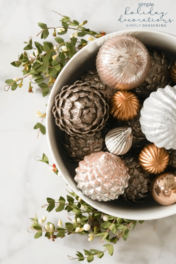 Simply Holiday Decorations - Decorating with Christmas Tree Ornaments - Christmas Decorations