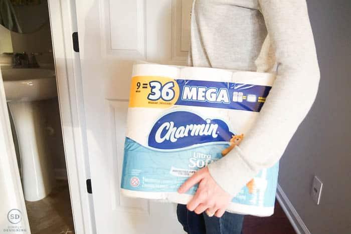 Stock bathroom with Charmin
