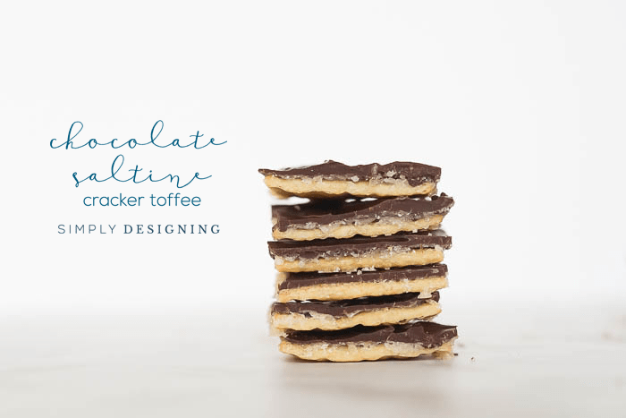 Chocolate Saltine Cracker Toffee Recipe - made with 4 ingredients