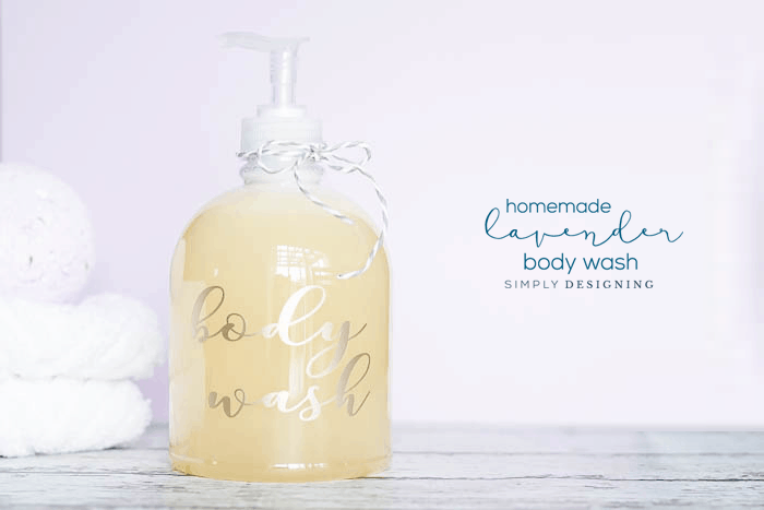 DIY Lavender Body Wash Recipe - a homemade body wash recipe - homemade lavender body wash