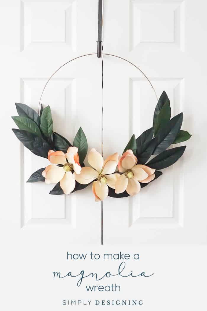 How to Make a Magnolia Hoop Wreath
