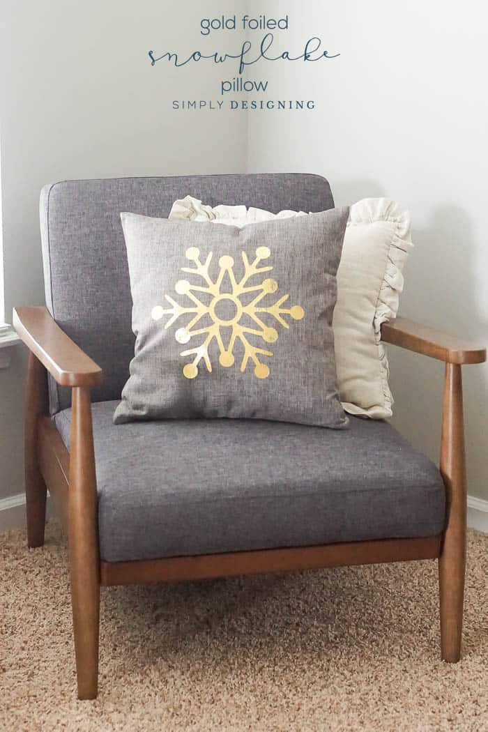 How to make a gold Foiled Pillow