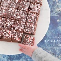 Chocolate Peppermint Fudge Recipe + 3 Ideas to Feed the Hungry