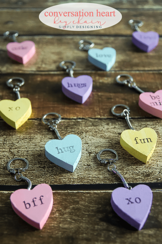 DIY Conversation Heart Key Chain