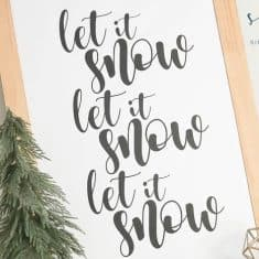 Let it Snow FREE Winter Print