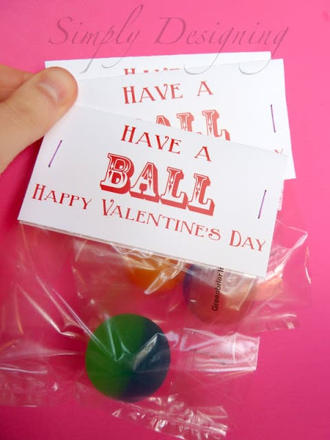Have a Ball Happy Valentines Day Card