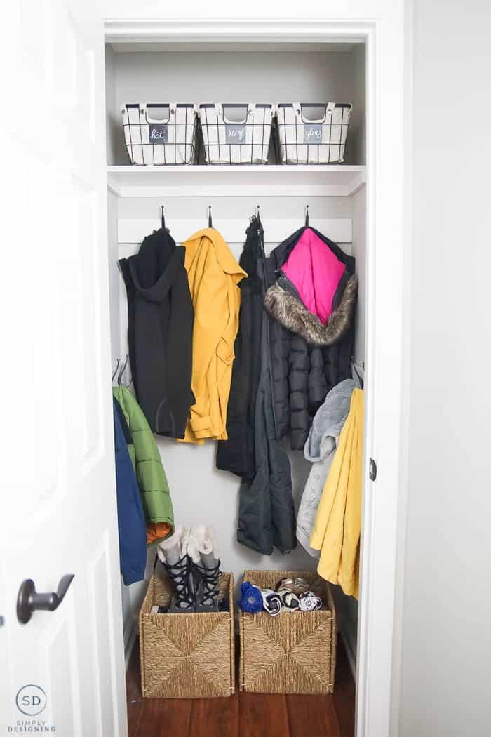 Coat Closet Make Over