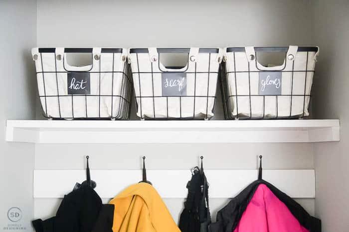 Storage in Coat Closet