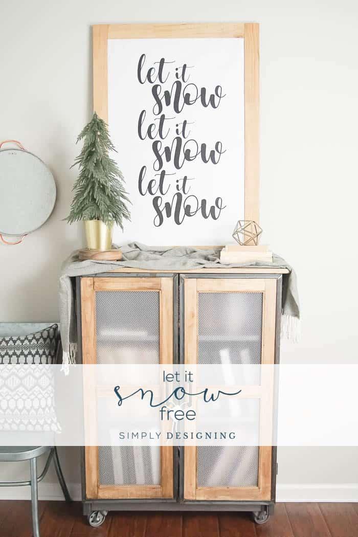 Let It Snow Free Print | Free Winter Print