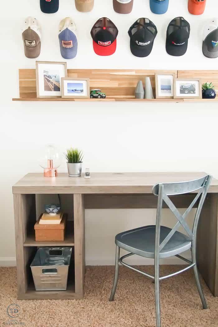 man's office decorating ideas - man cave - farmhouse design - farmhouse office