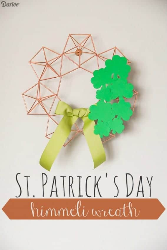 Himmeli Wreath with Shamrocks for St. Patrick's Day