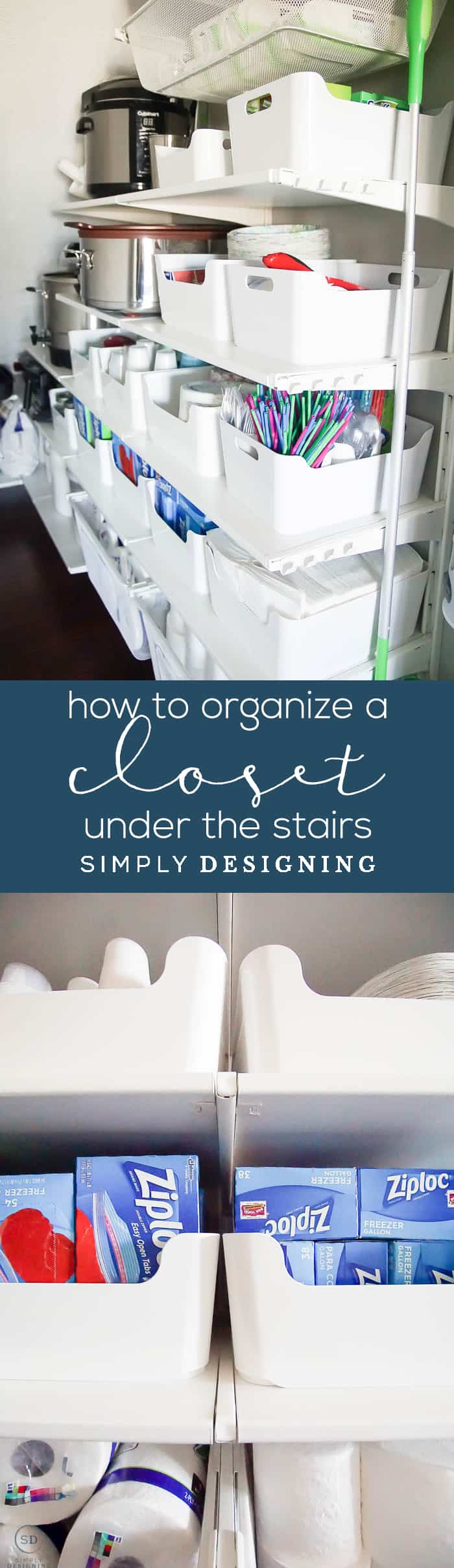 How to Organize a Closet Under the Stairs - Under Stairs Ideas - Under Stairs Closet Storage Plans
