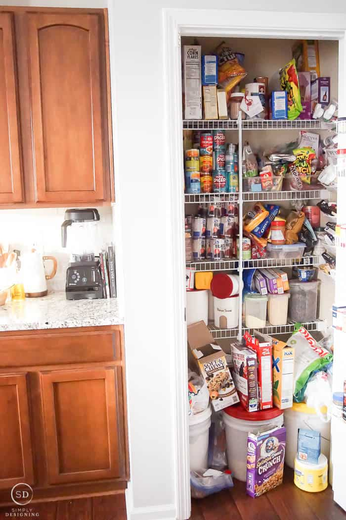 Small pantry before