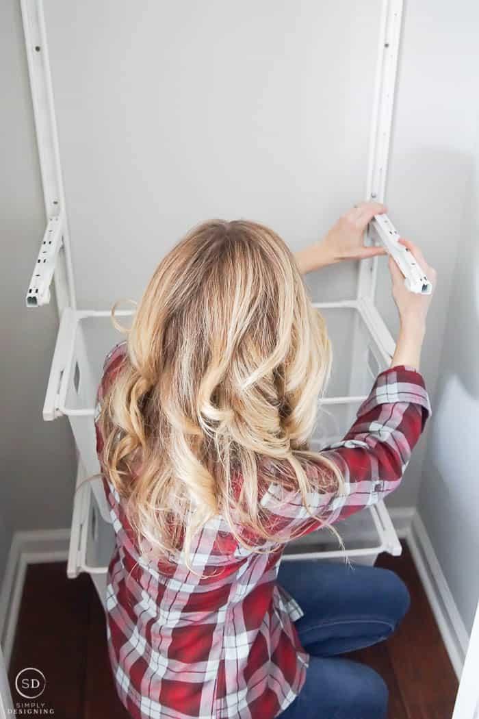 Install IKEA ALGOT shelf brackets