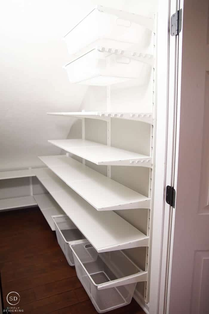 How To Organize A Closet Under The Stairs Pantry Organization Ideas Rh Simplydesigning Porch Com Shelving