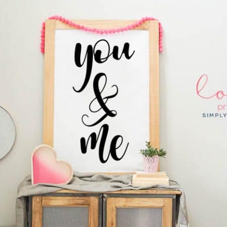 You & Me | Free Love Printable