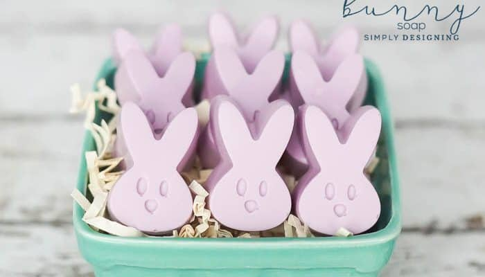 Lavender Bunny Soap with Essential Oils