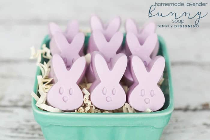 How to make Lavender Bunny Soap - how to make soap - homemade lavender soap with essential oils