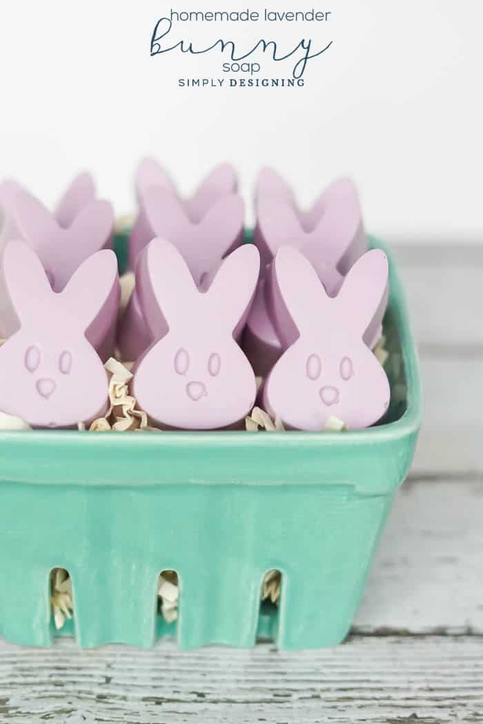 Lavender Bunny Soap with Essential Oils - bunny soap with essential oil