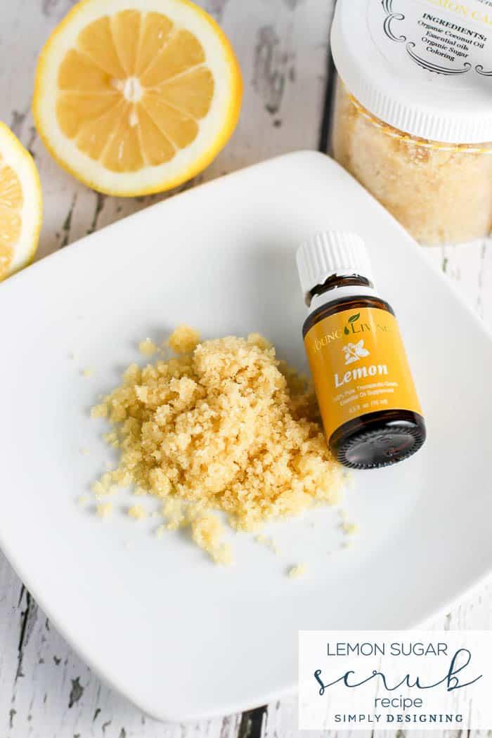 Lemon Sugar Scrub Recipe - an easy sugar scrub recipe - Copy