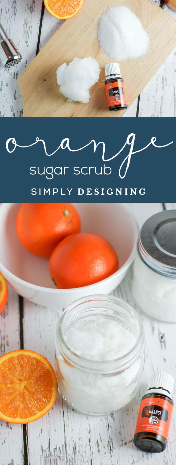 Orange DIY Sugar Scrub Recipe - sugar scrub recipe - diy body scrub - homemade sugar scrub