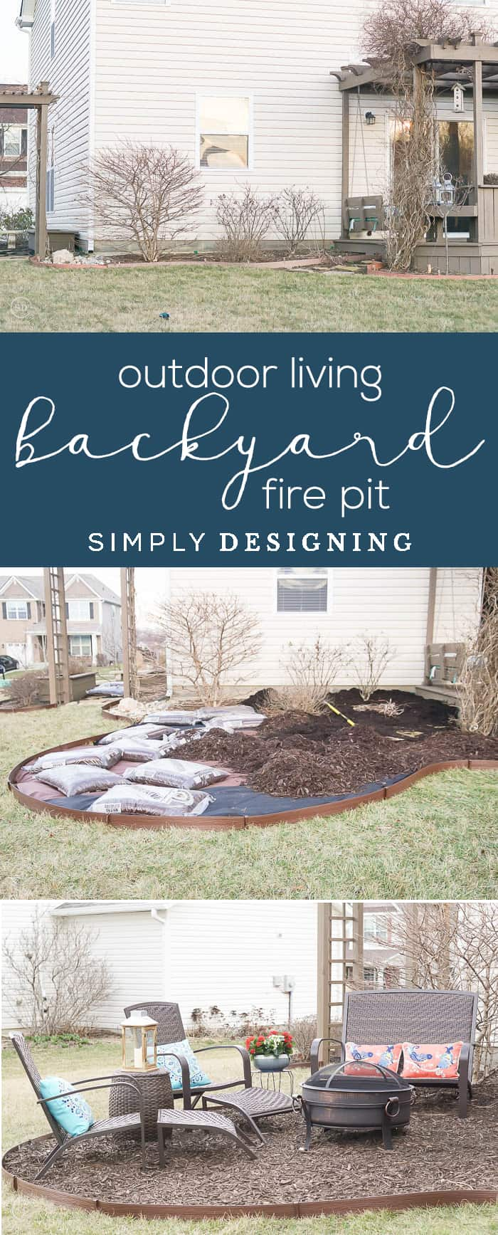 Outdoor Living with an Easy Backyard Fire Pit - easily create more outdoor living space