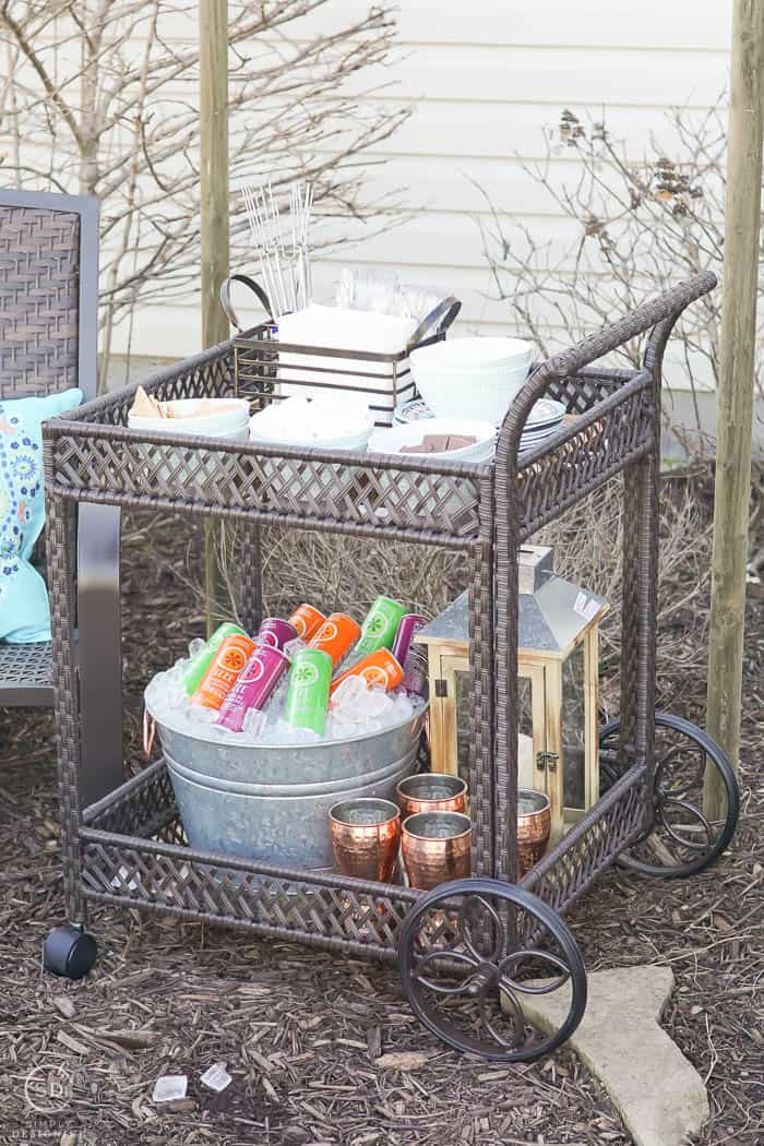 Serving Cart - Smore Bar