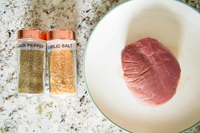 Sous Vide Steak Ingredients