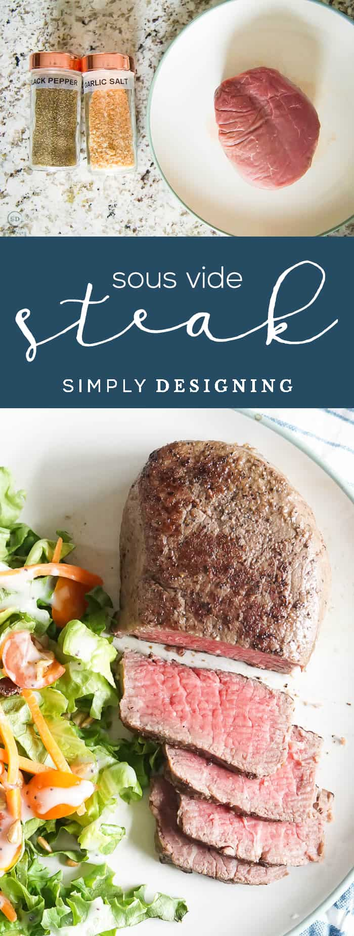 Sous Vide Steak - sous vide steak recipe - how to cook steak with sous vide