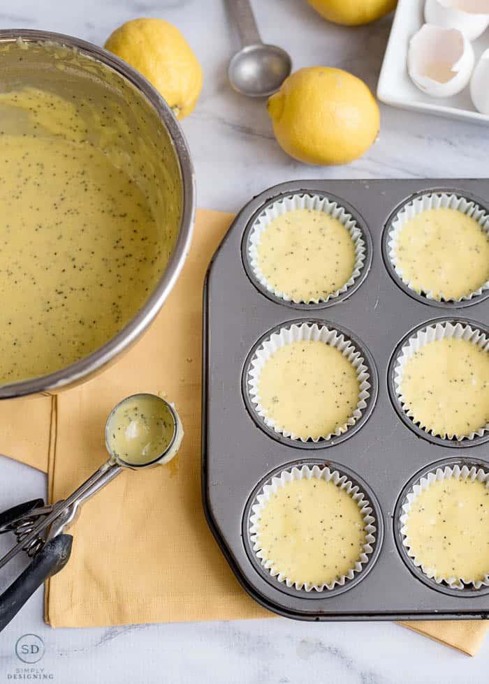 fill muffin tins