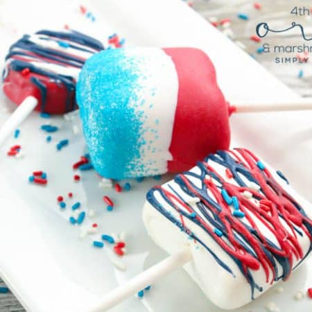 4th of July Oreo Pops + Marshmallow Pops