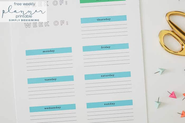 FREE Weekly Printable Planner - a week by week planner you can download and use for free