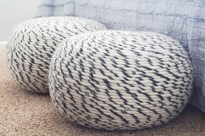 decorative poufs for seating