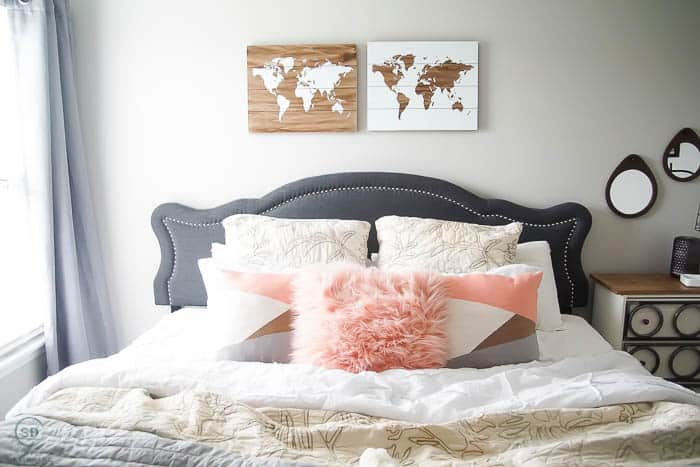Add pillows to your bed - lots of pillows